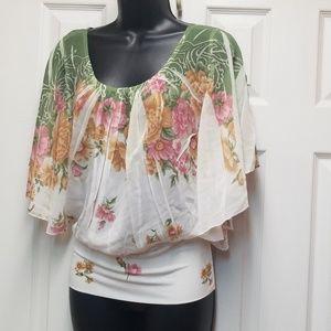 XXI Sheer batwing blouse